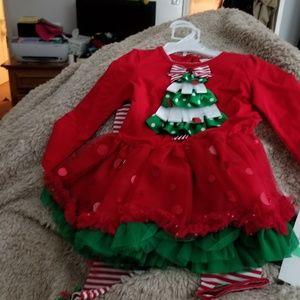 Red&Green Christmas Tree 2 PC set
